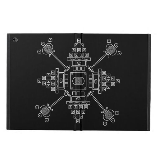 black abstract drawing powis iPad air 2 case