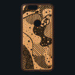 """Black Abstract Geometric Art Wood Nexus 6P Case<br><div class=""""desc"""">Cool original digital abstract art by dushan medich. Random shapes,  lines circles and abstract shapes in black. It is cute but elegant at the same time. See this as a canvas and a poster wall art.</div>"""