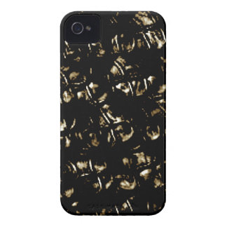 Black Abstract Kisses Pattern iPhone 4 Cover