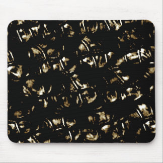 Black Abstract Kisses Pattern Mouse Pad