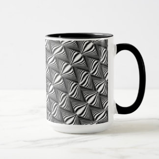 Black & Abstract on 15 oz Ringer Mug