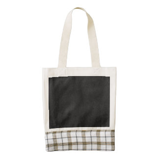 black abstract pattern zazzle HEART tote bag