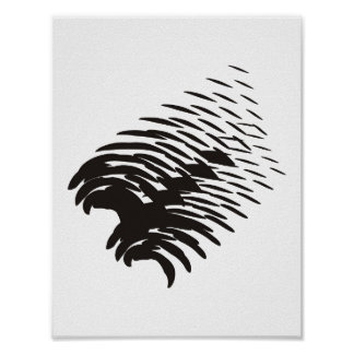 Black Abstract Scratch Poster