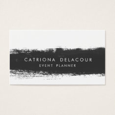 Black Abstract Watercolor Splash Business Card at Zazzle