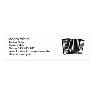 Black Accordion Mini Business Card