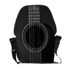 Black Acoustic Guitar Courier Bag at Zazzle