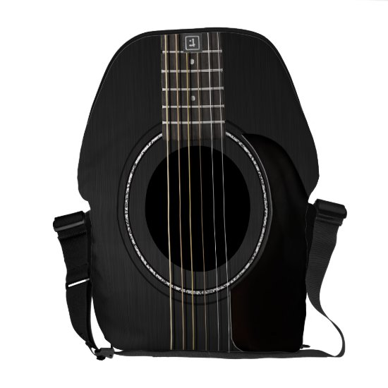 Black Acoustic Guitar Courier Bag