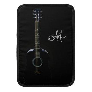 Black Acoustic Guitar Music Macbook Air Sleeve
