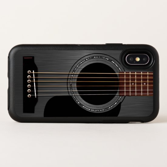 Black Acoustic Guitar OtterBox Symmetry iPhone X Case