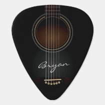 Black Acoustic Guitar Personal Guitar Pick