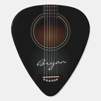 Black Acoustic Guitar Personal Guitar Pick