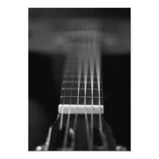 Black Acoustic Guitar Photo Card