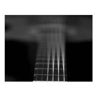 Black Acoustic Guitar Photo Postcard