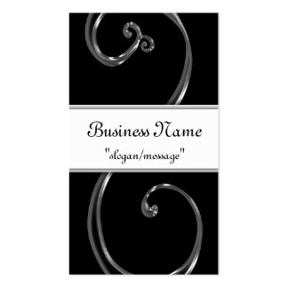 Black Acrylic Chic Swirl Design Business Cards