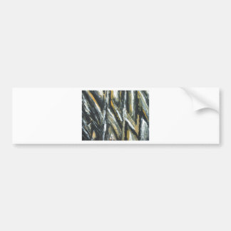 Black Acute Angles(abstract expressionism) Bumper Sticker