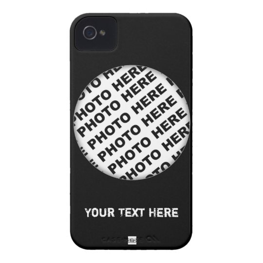 Black Add Photo Blackberry Bold Case 1