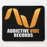 Black Addictive Vibe Records mousepad