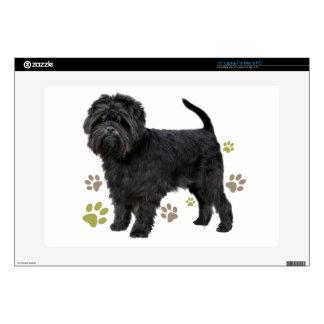 Black Affenpinscher Dog Laptop Decals