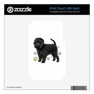 Black Affenpinscher Dog Skins For iPod Touch 4G