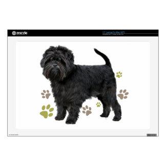 """Black Affenpinscher Dog 17"""" Laptop Decal"""