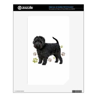Black Affenpinscher Dog Skin For The NOOK Color