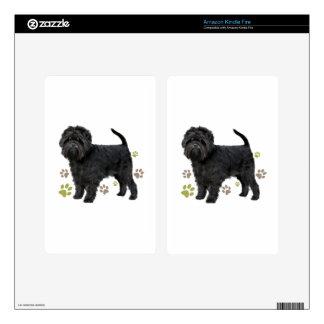 Black Affenpinscher Dog Skin For Kindle Fire