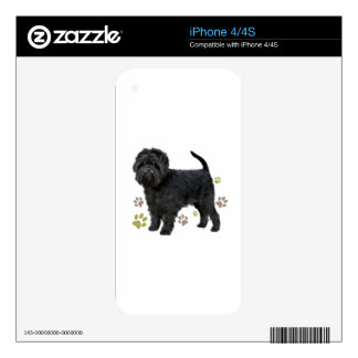 Black Affenpinscher Dog Skins For The iPhone 4S
