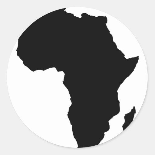 black africa shape round stickers