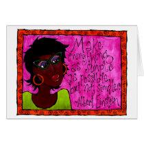 Black African American Woman Illustration Card