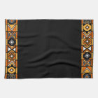 Black African Art Kitchen Towel