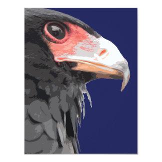 Black African Bateleur Eagle Card