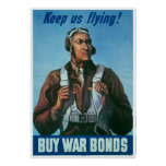 Black Airman Keep Us Flying! Poster
