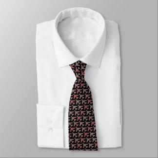 Black Airplane Tie Armani Red