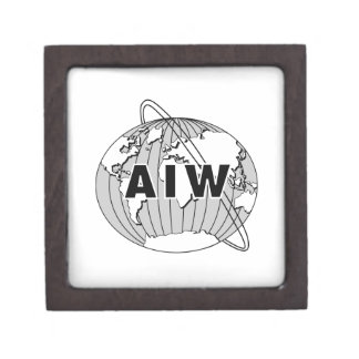 Black AIW Logo on White Jewelry Box