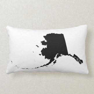 Black Alaska Shape Throw Pillow