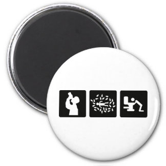black alcohol picture icon magnet