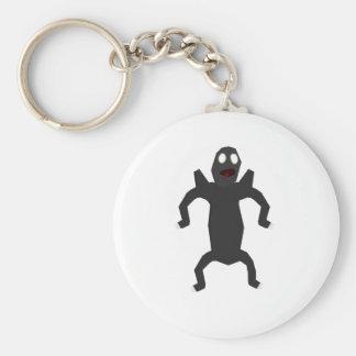 Black alien key chains