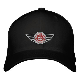Black all-cap with red embroidered MCR logo Embroidered Baseball Cap