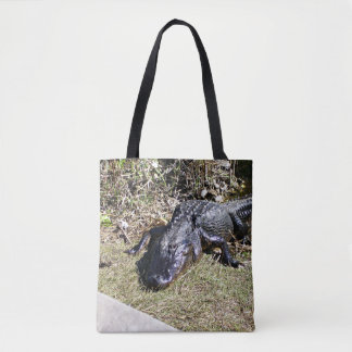 Black Alligator at the Everglades Tote Bag