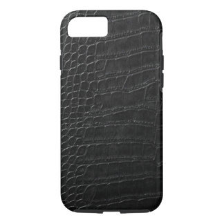 black alligator leather iPhone 7 case