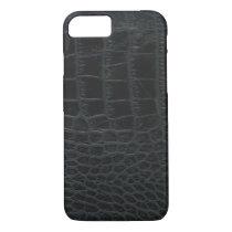 Black Alligator Skin iPhone 7 case