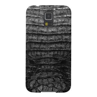 Black Alligator Skin Print Galaxy S5 Cover