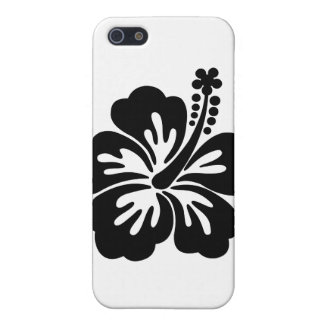 Black aloha flower case for iPhone SE/5/5s