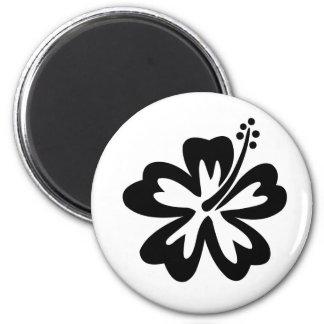 Black aloha flower magnet