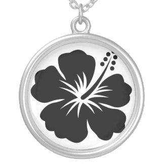 Black aloha flower Necklace