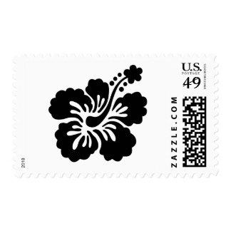 Black aloha flower Stamps