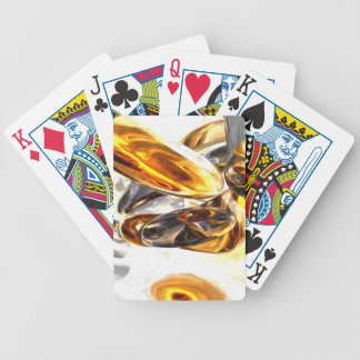 Black Amber Painted Abstract Bicycle Playing Cards