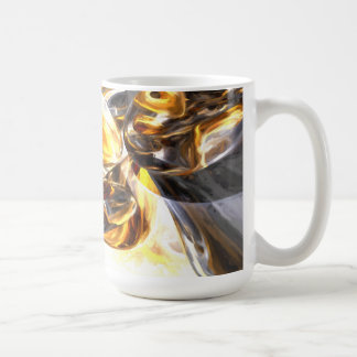 Black Amber Painted Abstract Coffee Mug