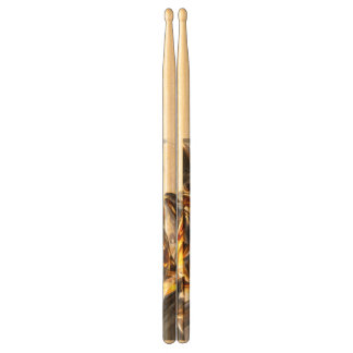 Black Amber Painted Abstract Drumsticks