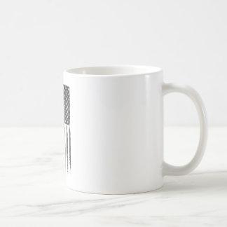 Black American flag Grunge Purge style Coffee Mug